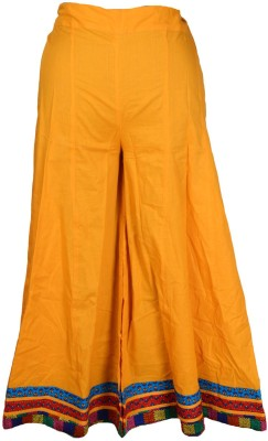 Shopatplaces Solid Women's Regular Orange Skirt