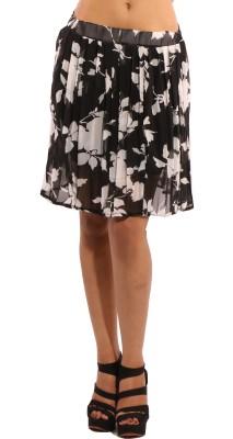 Showoff Printed Women's Pleated Black Skirt