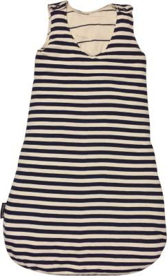 Wobbly Walk Blue and White Striped Hosiery Sleeping Bag