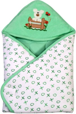 Brim Hugs & Cuddles BABY WRAPPER PRINTED PREMIUM-Green Sleeping Bag
