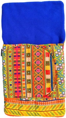 Wobbly Walk Jaipuria Print With Blue Fleece Sleeping Bag