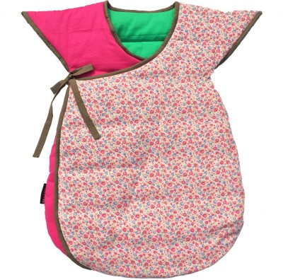 Wobbly Walk Pink Floral Cotton Baby Sleeping Bag