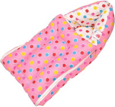 Orange and Orchid Baby Bedding Set Cum Sleeping Bag,Bed For Just Born Sleeping Bag