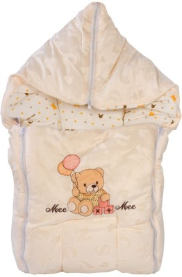 Mee Mee Baby Carry Nest Cream - Teddy Bear With Balloon Sleeping Bag