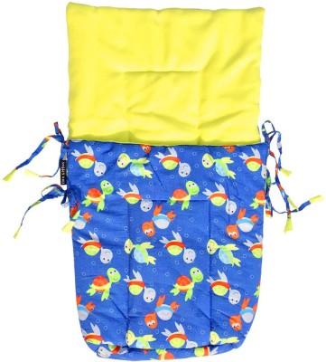 Wobbly Walk Turtle Print with Yellow Fleece Sleeping Bag