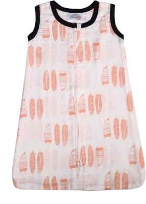 Bacati Tribal Coral Feathers Muslin Sleep Sack Sleeping Bag(Orange)