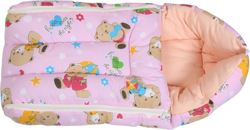 Eshelle Teddie-Pk 3 In 1 Bedding Set Sleeping Bag(Pink)