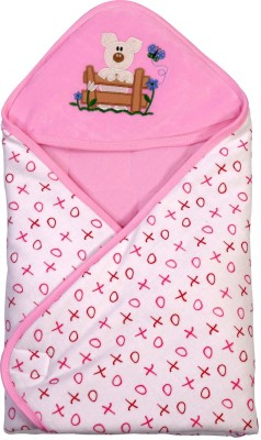 Brim Hugs & Cuddles BABY WRAPPER PRINTED PREMIUM-Pink Sleeping Bag