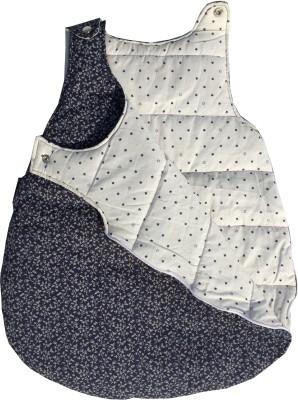 Wobbly Walk Blue Floral Cotton Sleeping Bag