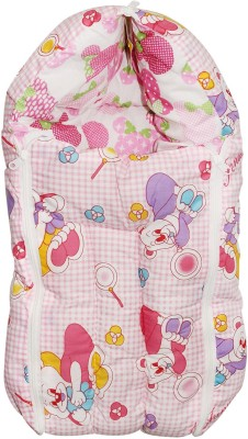 Wonderkids Pink Checks Print Baby Carry Nest Sleeping Bag