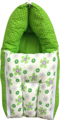 Younique Cotton Baby Bed Carrier Green Sleeping Bag