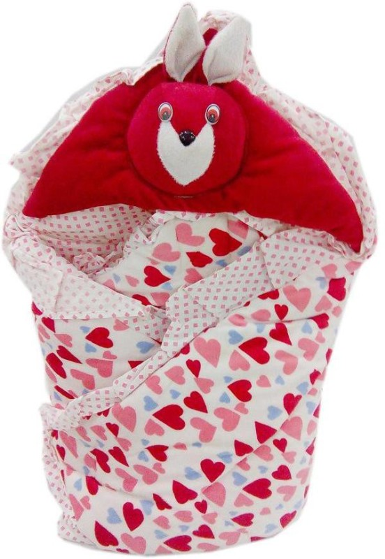 Baby's Clubb Baby Wrapper Sleeping Bag(White, Red)