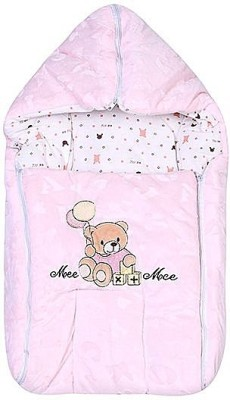 Mee Mee Baby Carry Nest Pink - Teddy Bear With Balloon Sleeping Bag