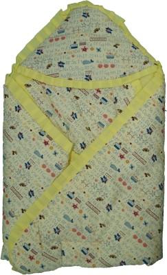 Koochie Koo Alphabat Printed Yellow Baby Wrap With Velcro Sleeping Bag