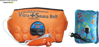 CreativeVia Healthcare 3in1 Magnetic Sauna Vibrating With Heating Pad Slimming Belt