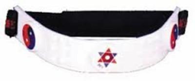 Acs Magnet Head Plastic Magnetic Slimming Belt(White)