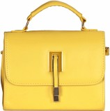 Kalon Women Yellow PU Sling Bag
