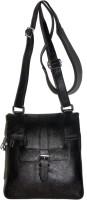 PE Men Black Genuine Leather Sling Bag