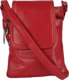 Poppy Women Casual Maroon PU Sling Bag