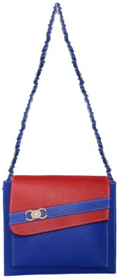 Bueva Girls, Women Blue PU Sling Bag