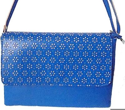 Ellye Girls Casual Blue PU Sling Bag