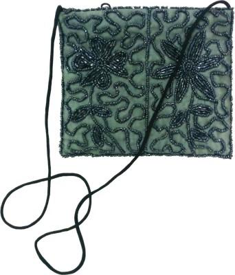 Gotewala Women Grey Genuine Leather Sling Bag