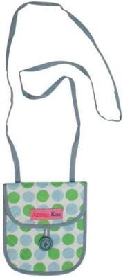 Always Kids Girls Casual, Evening/Party Green Cotton Sling Bag