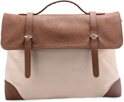 Hogo Girls Beige, Brown Cotton, Polyester Sling Bag