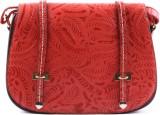 Heaven Deal Women Red PU Sling Bag