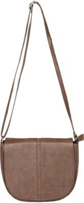 Etiquette Women Brown Nylon Sling Bag