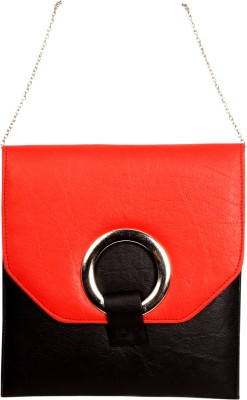 Arkgold Girls Red PU Sling Bag
