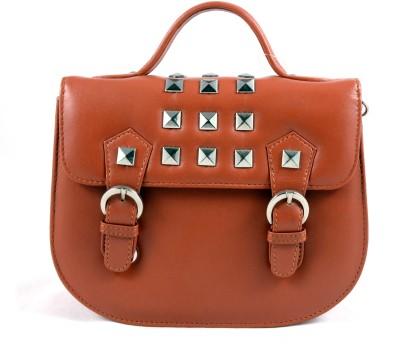Claude Lorrain Women Casual, Evening/Party, Formal, Sports Orange Genuine Leather Sling Bag