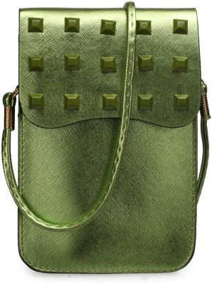 Bags Craze Women Green PU Sling Bag