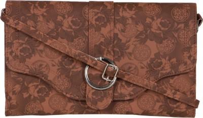 MTE Girls Brown PU Sling Bag