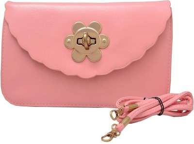Shopaholic Fashion Women Pink PU Sling Bag