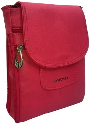 Evookey Men, Boys, Girls, Women Pink Leatherette Sling Bag