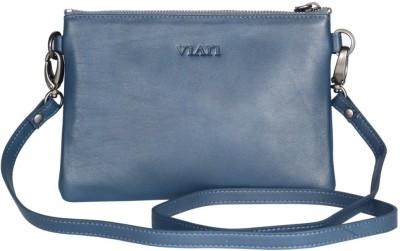 Viari Women Formal Blue Genuine Leather Sling Bag