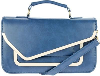iva Women Blue Leatherette Sling Bag