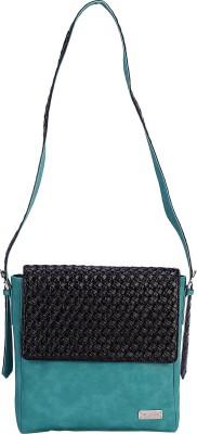 The Zoya Life Girls, Women Green, Black PU Sling Bag