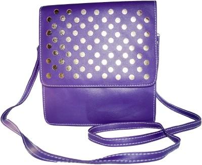 VINCITORE Women Blue Leatherette Sling Bag