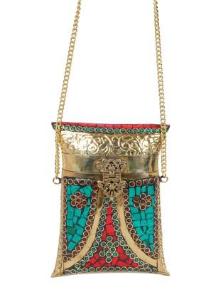 Urban Stitch Girls, Women Gold Metal Sling Bag