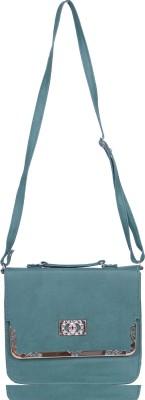 Kshipra Fashion Women, Girls Green Genuine Leather Sling Bag