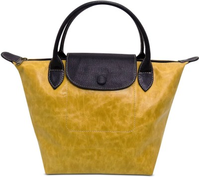 Cascara Women Yellow Genuine Leather Shoulder Bag