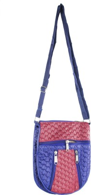 Mpkart Girls, Women Casual Blue, Brown Leatherette Sling Bag
