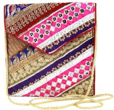 Dyuthi Creations Women Red Velvet Sling Bag