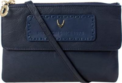 Hidesign Women Blue Genuine Leather Sling Bag