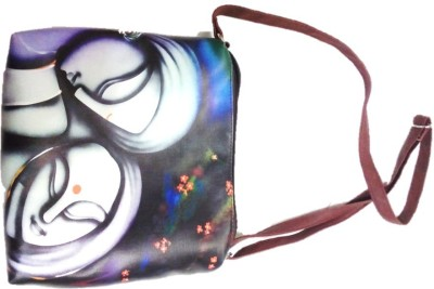Divine Collection Girls Multicolor Rexine Sling Bag