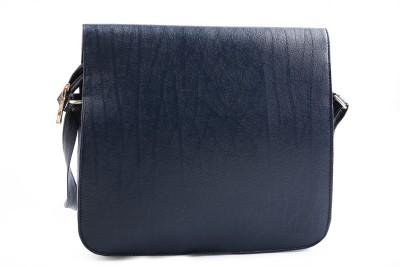 YBC Women Blue PU Sling Bag