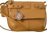 eZeeBags Women Tan Genuine Leather Sling...