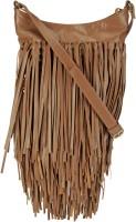 The House of Tara Women Tan Genuine Leather Sling Bag